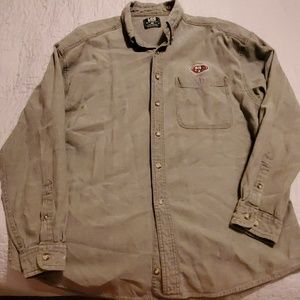 49ers Lee Sport Casual Long Sleeved Button